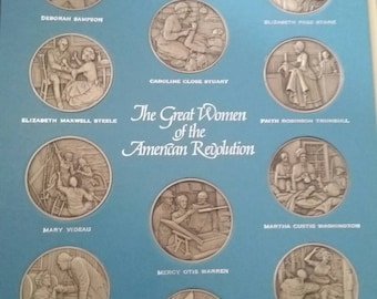 The Great Women of the American Revolution Franklin Mint Collectibles Complete Set. 1974-1977