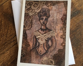 "Greetings card of original painting ""Ada"""