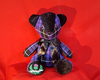 Scottish Tartan Teddy Bears. with embroidered Thistle,  Price reduced