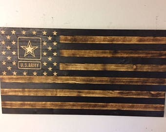 U.S. Army Torched Flag