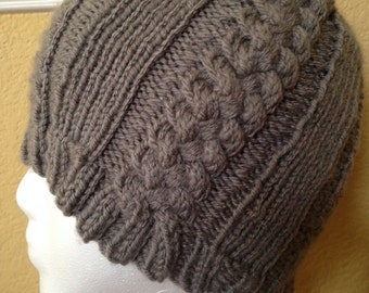 Once Upon a Time Inspired Grey Cable-Knit Emma Swan Hat
