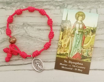 St. Dymphna Rosary Bracelet - with medal