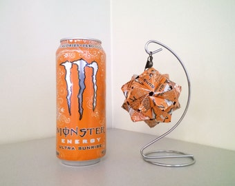Monster Ultra Sunrise Origami Ornament // Origami // Upcycled Recycled Repurposed Art  // Valentines Day // weird gifts // spring // sun