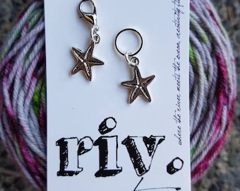 Bulky Knitting Stitch Markers | Knitting Progress Markers | Crochet Stitch Markers | Removable Stitch Markers | Starfish Progress Marker