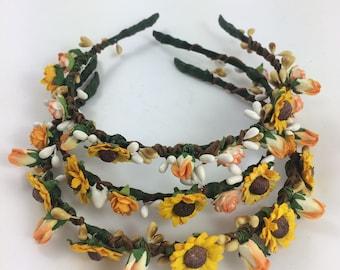 Paper Flower Crown Headband