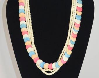 Multi Color Pastel Vintage Necklace