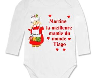Best Grandma... personalized with name baby Bodysuit