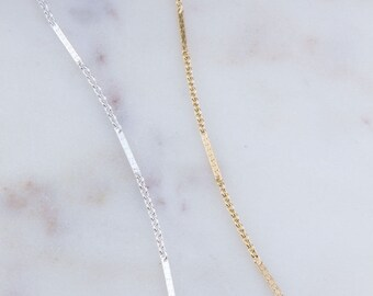 3 Feet ,Bar and Link Chain in Sterling Silver and Gold Filled, Jewelry Making Supplies, Bulk Silver and Gold Chains, Dainty Chains, SCNF147