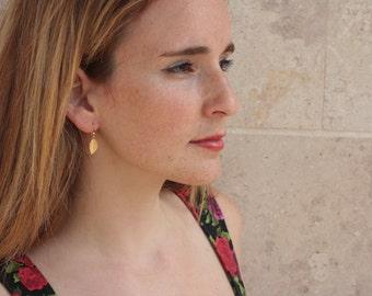 Bridal Leaf Earrings, Gold Leaf Dangle Earrings, Bridesmaid Accessories Gift, Woodland Wedding, Small Leaf Earrings, Autumn Wedding