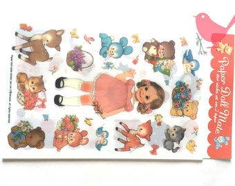 Retro girls' stickers - 6 sheets