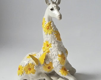 LARGE GIRAFFE 16 in. porcelain made in Italy Vintage