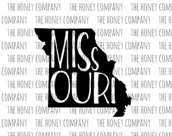 Missouri SVG PNG DXF State Outline Instant Download Silhouette Cricut Cut Files Cutting Machine Vector File