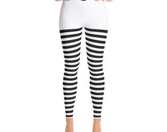 Black & White Yoga Leggings/Pants