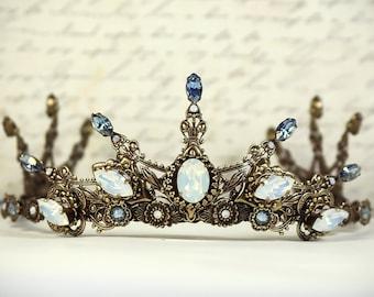 Renaissance Bridal Tiara, Medieval Wedding, Bridal Headpiece, Custom Tiara, Tudor Costume, Ren Faire Wedding, Avalon Tiara, Ready to Ship