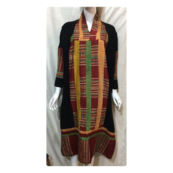 dress Thai the long north tribal wedding Vintage Vietnam of in Black gqnXEw1