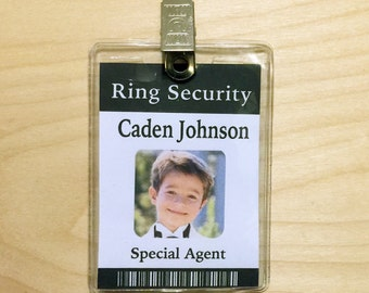 Ring Security Ring Security Badge Ring Bearer Badge - Ring security badge template