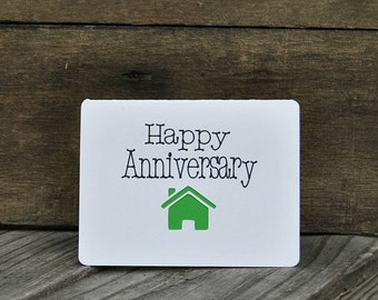 Real Estate Anniversary Card Set, Home Purchase Anniversary, Realtor Cards, Real Estate Cards, New Home - Set of 5 cards - Horizontal