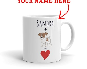 Jack Russell Gift - Personalized Jack Russell Mug - Custom Name Gift For Jack Lovers - Jack Russell Mom - Jack Russell Dad - Dog Lover Gift
