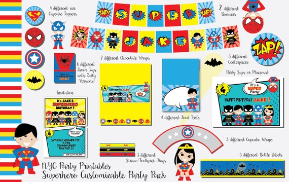 Superhero Birthday Superhero Birthday Party Unisex