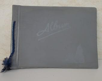 Vintage Soviet Era Geay Photo Album, Large Gray Photography Album, gift idea, vintage album