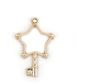 Gold Star for creating 2 stem charms resin 43x29mm