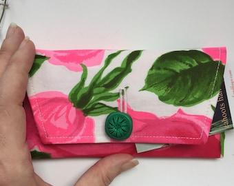 Cahoots Handbags 1960s Neon Pink Floral Clutch
