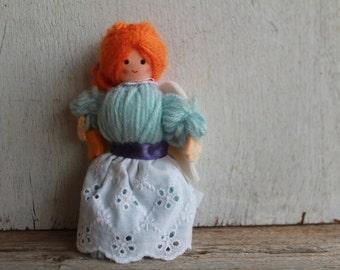 Vintage 1983 American Greetings Yarn Angel Ornament