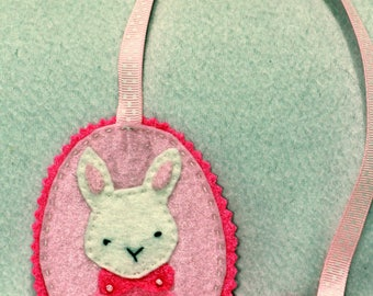 Bookmark pink Bunny