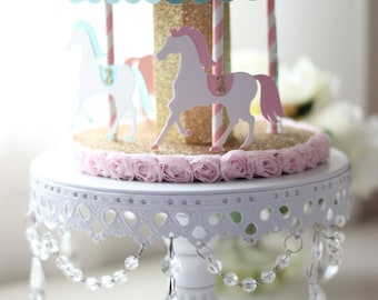 3D Carousel Cake Topper or Centerpiece