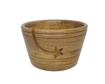Shooting Star yarn bowl in Mango wood