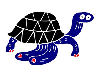 Tortoise Tits Print *FREE UK DELIVERY!*