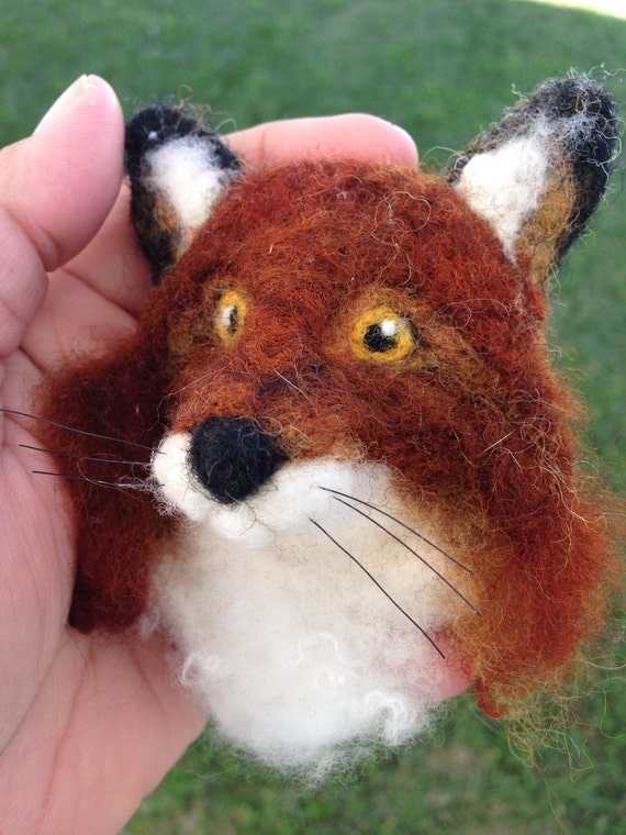 Felted Fox Head's Brooch Made to Order