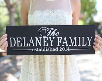 Personalized Family Sign Wedding Christmas Holiday Bridal Shower Gift  (Item Number MHD20025)