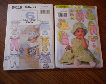 Baby Toddler Girl Summer wardrobe patterns- New, Size NB - XLG