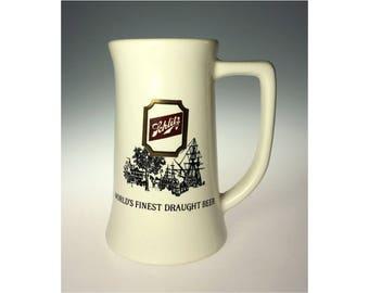 Schlitz Malt Liquor Tankard Stein McCoy Pottery Ceramic Draught Beer