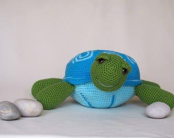 Crochet Turtle Amigurumi Turtle Turtle Plush Turtle Toy Soft Turtle Handmade Turtle Stuffed Animal Stuffed Turtle Big Turtle Cute Gift Toy