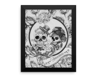 Forevermore Skulls Framed Print