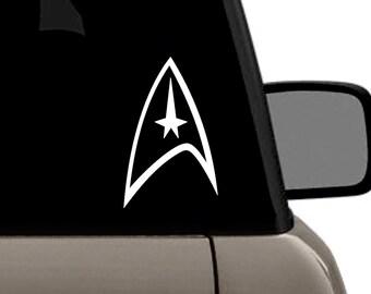 "Star Trek Federation Command Delta Logo Vinyl Decal Multiple Colors Bumper Sticker 4"" x 8"" - 18'x20"""
