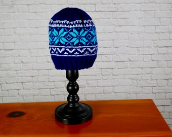 Norwegian Star Hat - Ski Hat - Hand Knit Ski Hat - Knit Ski Hat - Hand Knit Star Hat - Unisex Ski Hat - Unisex Hat - Hand Knit Hat