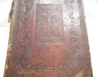 "Antique Russian Liturgical Book Church's ""Monthly"" Month of February 19th century."