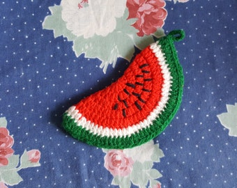Sale ~~ Crochet Watermelon Pot Holder Fruit Kitchen Decor Handmade Potholder  FS