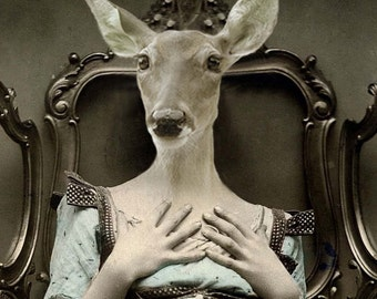 Deer Lucy 8x10 Anthropomorphic print