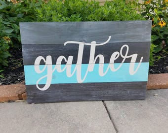 Gather Wood Wall Hanging, Dining Room Decor, Living Room Decor