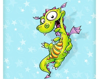 "Digi Stamp ""Dragon"""