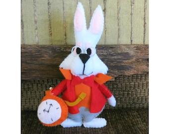 Alice in Wonderland The White Rabbit, Stuffed Toy, Children's Play Soft Toys, Nursery Rhymes, Kids Plushie