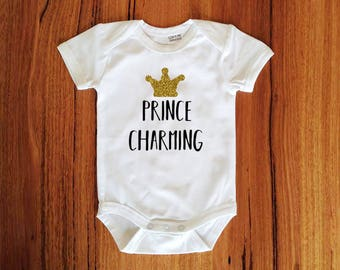 Prince Charming Baby Bodysuit Gold