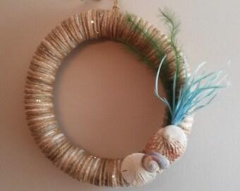 "Handmade 16"" summer Hampton-style wreath"