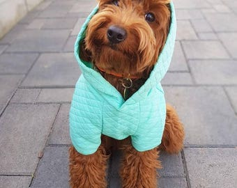 Mint Quilted Hoodie