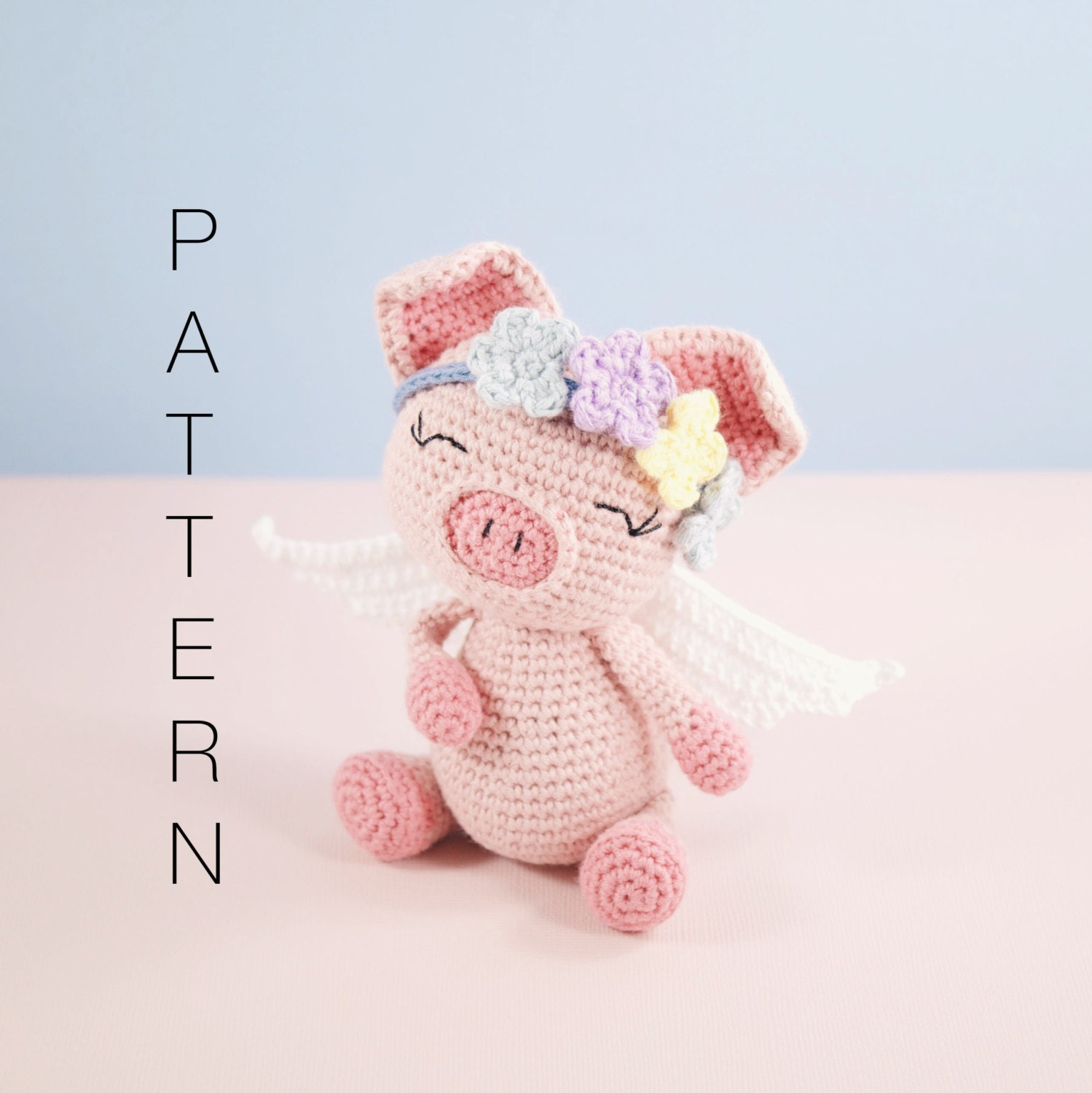 Amigurumi crochet cute pig pattern Pippa the pig PATTERN