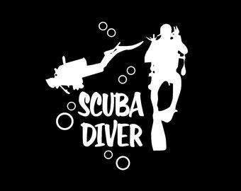 Scuba Divers decal Scuba Diver car decal Scuba Diver vinyl decal Scuba Divers Car decal Scuba Diver Sticker Scuba Diver Decals